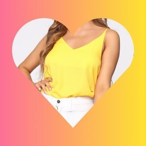 Yellow camisole top